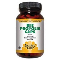 Country Life bee propolis 500 mg dietary supplement capsules - 100 ea