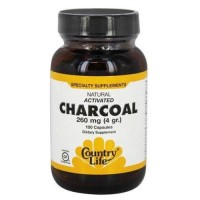 Country life  naturalctivated charcoal 260 mg capsules - 100 ea