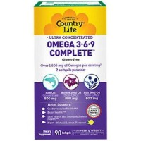 Country Life Ultra Concentrated Omega 3+6+9 Softgels - 90 ea
