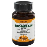 Country life  bromelain triple strength enzymes 500 mg tablets - 60 ea