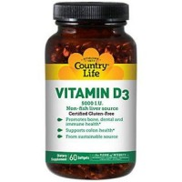 Country Life Vitamin D3 5000 IU Softgels - 60 ea