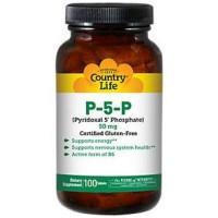 Country Life P-5-P (Pyridoxal Phosphate) 50 mg - 100 ea