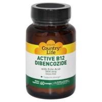 Country life ctive b12 dibencozide with foliccid sublingual 3000 mcg Lozenges - 60 ea