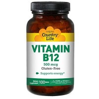 Country Life Vitamin B-12 500 Mcg - 100 ea