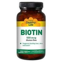 Country Life Biotin 500 mcg - 100 ea
