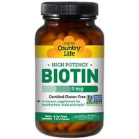 Country Life High Potency Biotin 5 mg Vegetarian Capsules - 120 ea