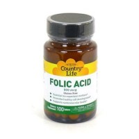 Foliccid 800 mcg by country life tablets - 100 ea