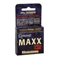 Kimono maxx large flare condom - 3 ct