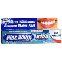 Plus white toothpaste xtra whitening with peroxide mint - 2 oz