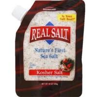 Real salt natures first sea salt - 16 oz, 6 pack
