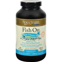 Spectrum essentials fish oil with vitamin D - 250 ea
