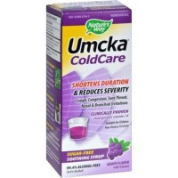 Natures way umcka coldcare syrup sugarfree grape - 4 oz