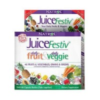 Natrol juicefestiv daily fruit and daily veggie super food capsules -  120 ea