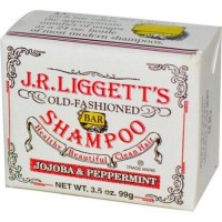 J.R. Liggetts old fashioned bar shampoo counter display jojoba and peppermint - 3.5 oz, 12 pack