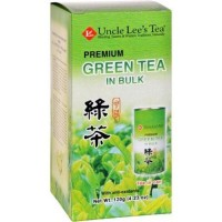 Uncle lees tea  green premium in bulk loose  - 4.23 oz ,6 pack