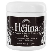 Rainbow Research Henna Persian Hair Color and Conditioner, Dark Brown - 4 oz