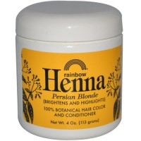 Rainbow henna hair color and conditioner, Blonde - 4 oz