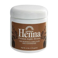 Rainbow Research Henna Hair Color and Conditioner, Persian Light Brown - 4 oz