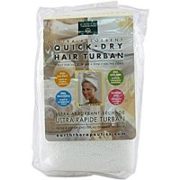 Earth therapeutics quick dry hair turban ultra absorbent - 1 ea