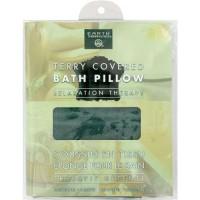 Earth therapeutics covered bath pillow dark green - 1 ea
