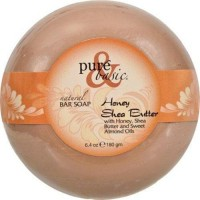 Pure and basic natural deodorant bar soap  honey shea butter - 6.4 oz ,6 pack