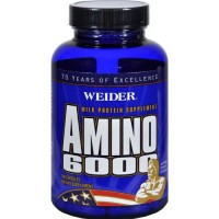 Weider amino 6000 milk protein supplement capsules  - 100 ea