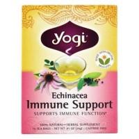 Yogi tea  echinacea immune support tea with organic mullein caffeine free - 16 Tea Bags
