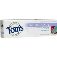 Toms of maine whole care wintermint fluoride toothpaste pack of 6 - 4.7 oz