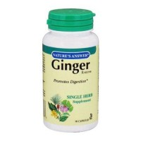 Natures answer ginger rhizome 100mg - 90 ea