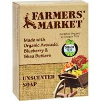 Farmers market organic bar soap unscented - 5.5 oz