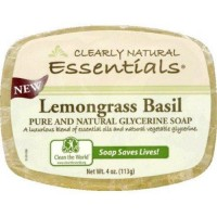 Clearly Natural Essentials lemongrass basil soap - 4 oz