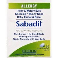 Boiron allergy sabadil quick dissolving tablets - 60 ea