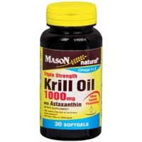 Mason natural krill oil 1000 mg with astaxanthin triple strength - 30 ea