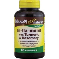 Mason natural in fla mend with turmeric and rosemary dietary supplement - 60 ea
