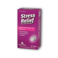 Natrabio stress relief nonhabit forming tablets -  60 ea