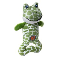 Charming Pet Products patches pattern frog dog toy - 48 ea