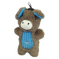 Charming Pet Products peek-a-boo donkey dog toy - med/9 inch, 24 ea