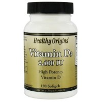Healthy origins vitamin D3 ,2400 IU softgels - 120 ea