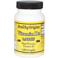 Healthy origins vitamin d3 2000 iu softgels - 120 ea