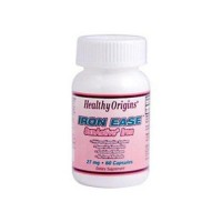 Healthy origins iron eases sunactive  27 mg capsules - 60 ea