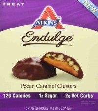 Atkins endulge pieces pecan caramel cluster bar - 5 oz, 6 pack