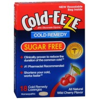 Cold-Eeze cold remedy lozenges, sugar free wild cherry - 18 ea