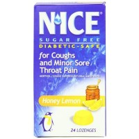 Nice sugar free lozenges, honey lemon - 24 ea
