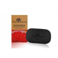 Shea natural black soap shea butter cleansing grapefruit pomelo - 5 oz