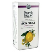 Nourish organic skin boost cream to oil essential treatment with lemon cassia - 2 oz