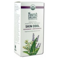 Nourish organic cream to oil essential oil treatment skin cool peppermint and wintergreen - 2 oz