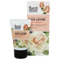 Nourish organic lightweight moisturizing face lotion argan + rosewater - 1.7 oz.