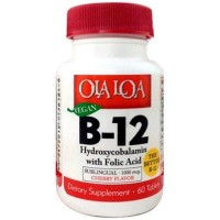 Ola Loa Products B12 Hydroxycobalamin with Folic Acid tablets - 60 ea
