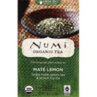 Numi Tea Rainforest Green Tea Supplement, Mate Lemon - 18 ea