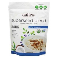 Nutiva organic superseed blend with coconut -10 oz ,6 pack
